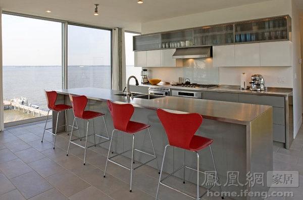 厨房不锈钢岛台一次满足n个愿望 料理台也能当饭桌