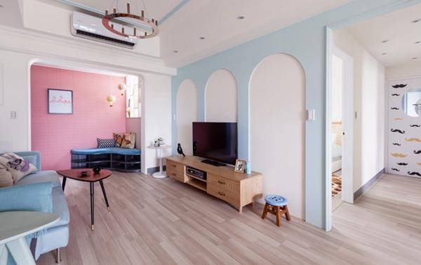 夏日清甜马卡龙色系 打造台湾简约公寓的小确幸