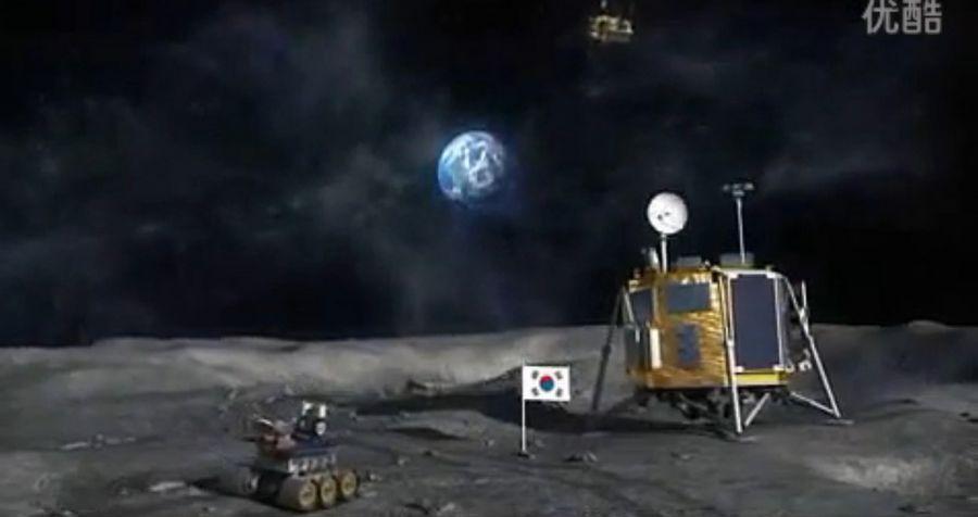 中国嫦娥三号成功登月后,韩国紧跟着推出了韩国登月全程动画演示,