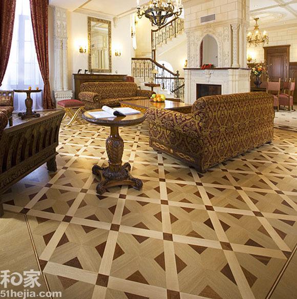 极具装饰感的拼花地板成为木地板市场的主流,依靠变幻多彩的花色