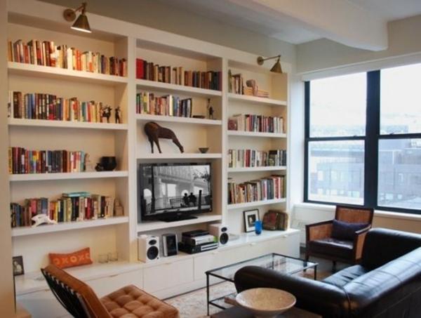 嵌入式欧式书柜设计 让书柜变成有文化的背景墙