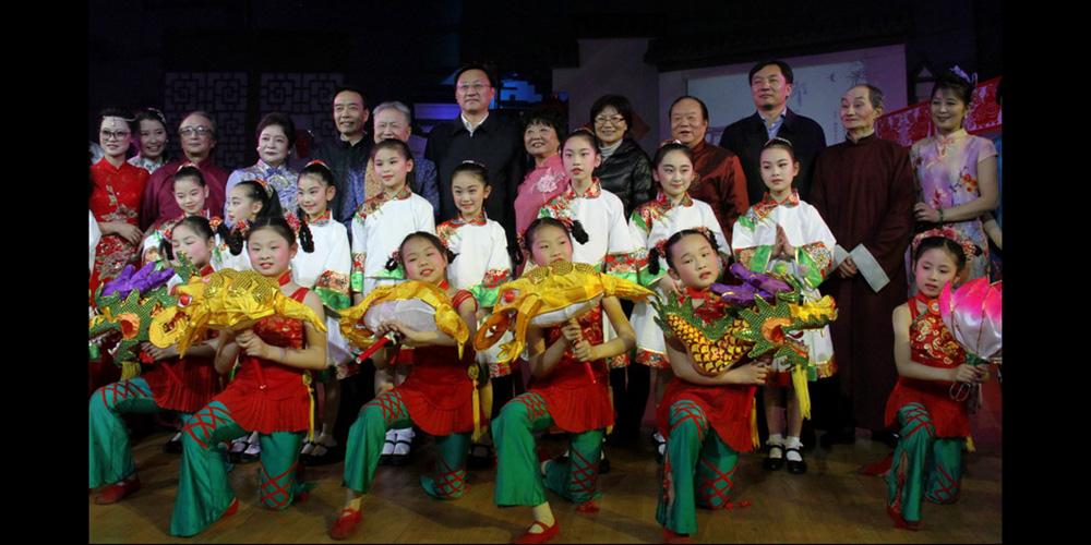 南京白局十周年传承专场-与缪瑞林市长合影