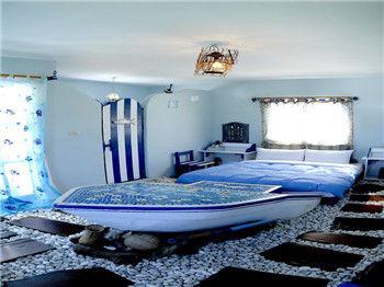 欧式海边民宿客房