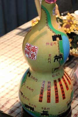 """张苗老先生手绘的""""南京城门""""葫芦"""