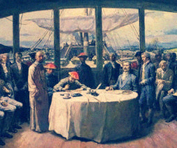 《中英北京条约》签订现场