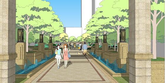 """龙光臻品,打造经典欧式园林 龙光·君悦华庭打造总面积19800平米的欧式园林,以对称式的中轴景观为中心,以水景、雕塑、水波等园林景观为主,在设计上采取半围合形式,楼栋围绕园林式的布局,形成景观最大化,楼间距最高可达到98米,通风采光俱佳。四周有四个功能景观区,分别是中心广场、480的游泳池,分成人池和儿童池,北面还有一个儿童活动区,南面为健身区。法式喷泉、水景、雕塑布局在小区的各个角落,打造出富有多变节奏感的法国浪漫人文气息的欧式园林,传达""""绿色生活优质家""""的人居理"""