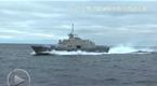 """中国054A护卫舰近距离追踪美军""""沃斯堡""""战舰"""