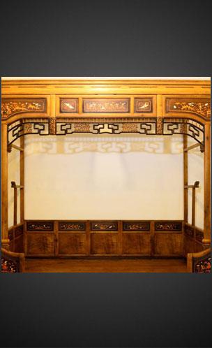 美丽童行拍品: 清代金丝楠木架子床