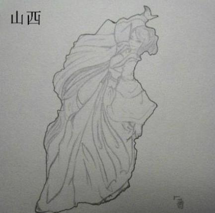 中国各省地图 每个地方都藏着一个美女