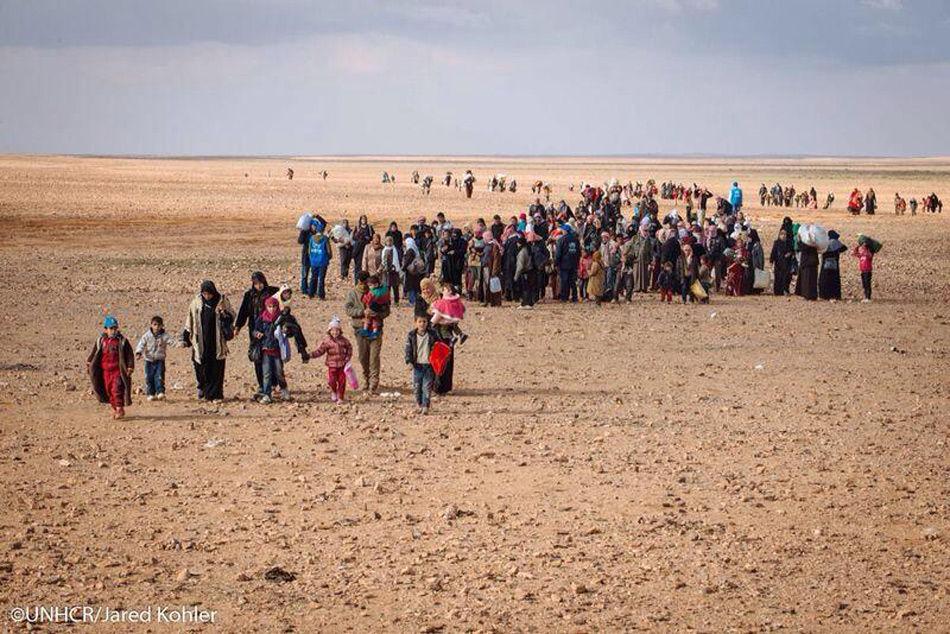万,其中难民达50余万,70%被安置在马弗拉克和扎尔卡的难民营中