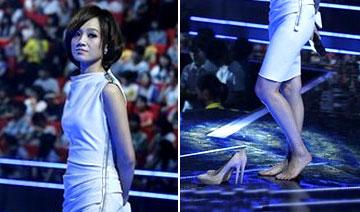 """朱丹加盟安徽感觉后""""脱鞋""""碰到女生卫视胸什么主持的图片"""