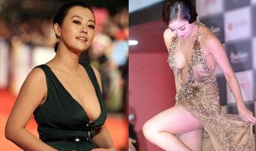 女星穿衣突破尺度 是时尚还是心机?