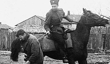 41年利沃夫独立的乌克兰骑兵用亲苏分子试刀 场面残忍