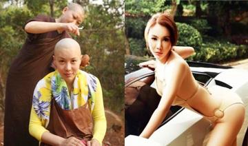 中国最美剃头修行亚姐 早期性感照判若两人