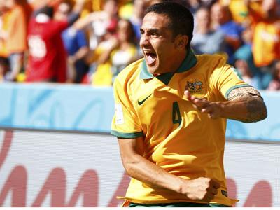 卡希尔凌空抽射 澳大利亚1-0荷兰