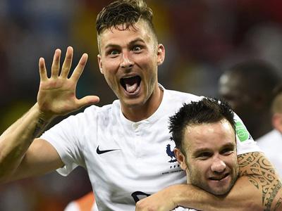 吉鲁进法国世界杯第100球 法国1-0瑞士