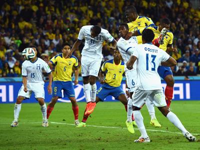 瓦伦西亚头球破门梅开二度 厄瓜多尔2-1洪都拉斯