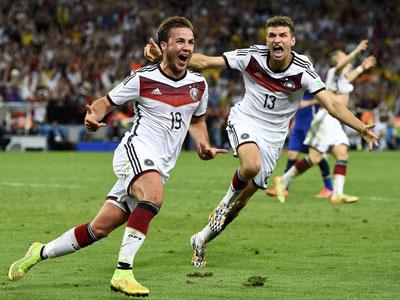 格策胸部停球垫射破门 德国1-0阿根廷