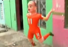 墨西哥街头现罗本玩偶