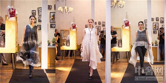 天然珠宝宝石与八位独立服装设计师的时装,包括有谢海平,杨子,刘海涛