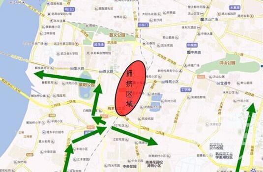 武昌火车站周边部分道路30日,1日限行