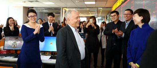 金融巨头罗杰斯参观青岛东北亚大宗商品交易中心