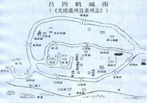 北海桥港手绘地图
