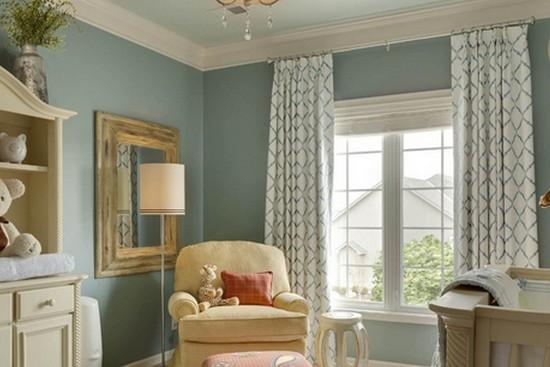 美式古典风格窗帘装修效果图