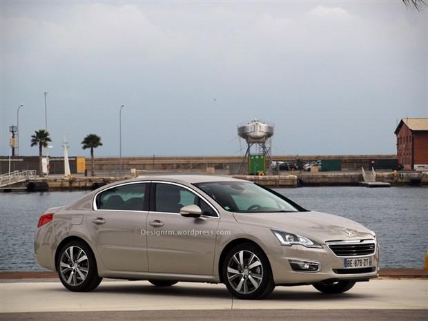 轮毂样式.   近日,海外媒体曝光了一张标致新款508的新车效高清图片