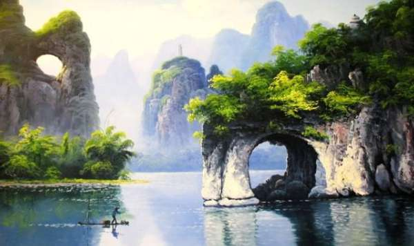 桂林春天大自然风景