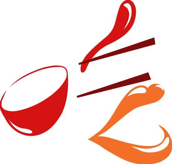 """为传承中国造字的精髓,弘扬中华民族的传统文化。梁涛从中国的象形造字中找到了灵感,以""""吃""""的笔划作为基础。LOGO中""""吃""""字的""""口""""字偏旁由""""碗""""的形状构成;""""吃""""字它的""""撇""""由""""勺""""的形状构成;""""横""""以及""""横折弯钩""""中的""""横"""",由""""筷子""""的形状"""