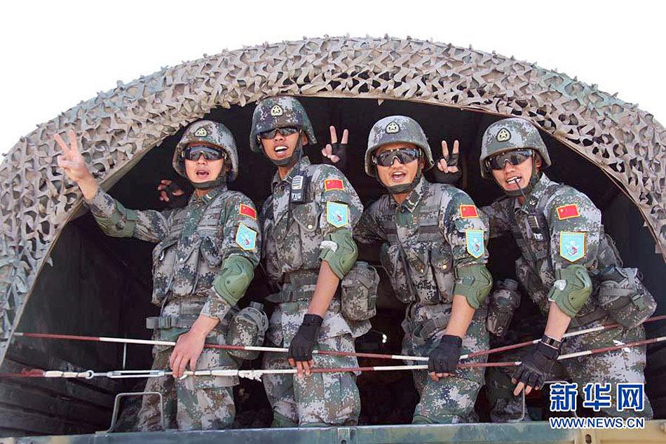 和平使命演习中方部队2天公路机动抵达吉尔吉斯斯坦