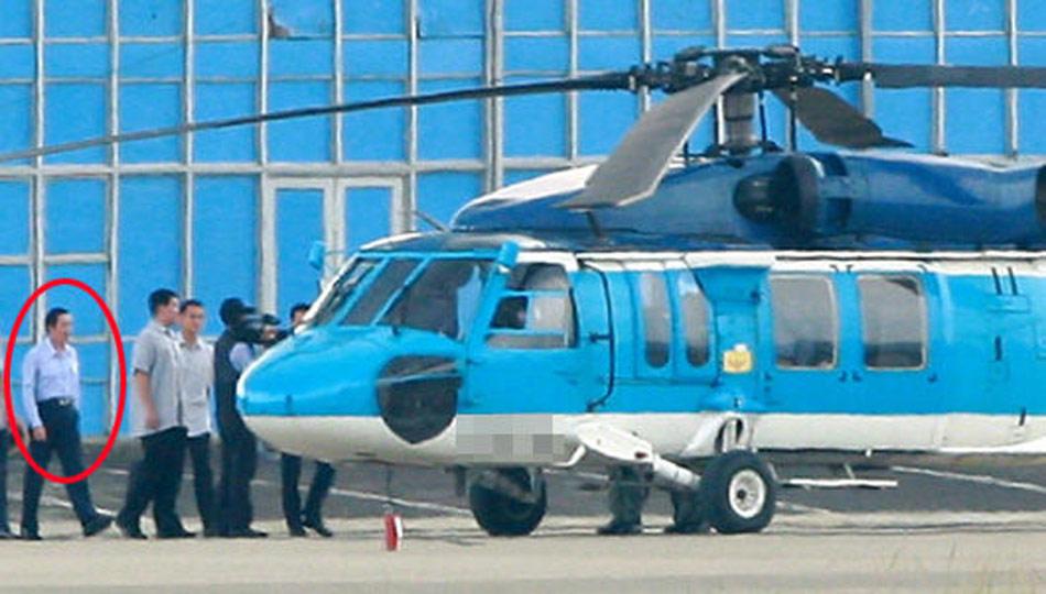 9月7日下午,台湾地区领导人马英九搭乘直升机登上离钓鱼岛最近的台湾附属岛屿彭佳屿。