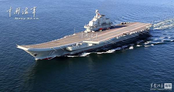 中国海军辽宁舰。