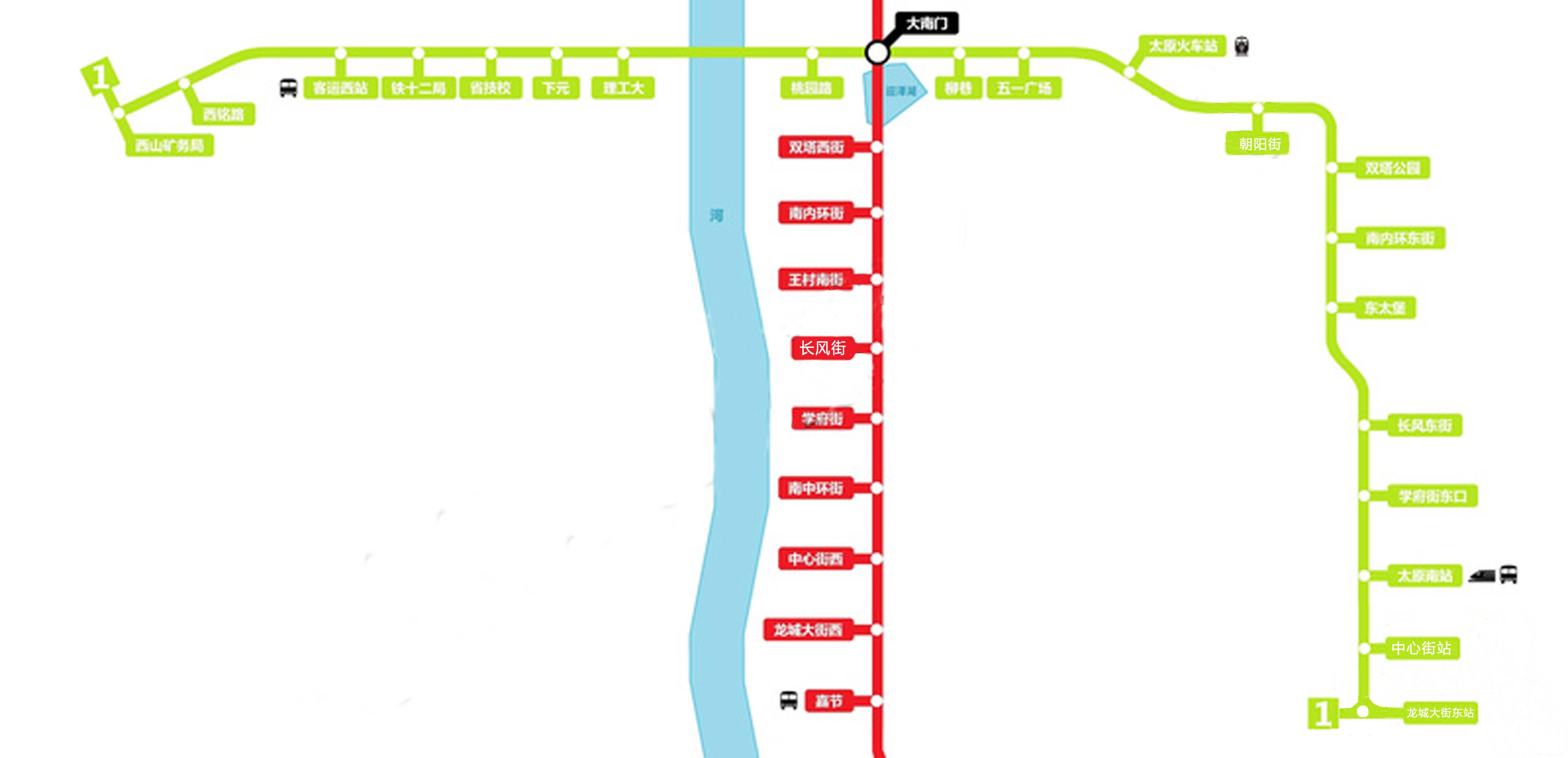太原地铁一号线简介: 1号线全长32公里