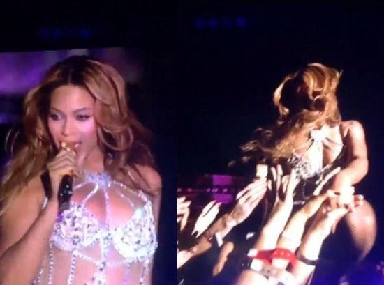 碧昂丝演唱会对嘴假唱被抓包