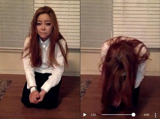 韩女歌手开个唱晕倒台上 跪地求粉丝原谅
