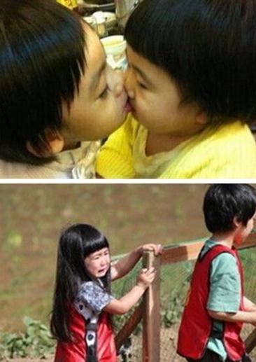 接受小美女的亲吻