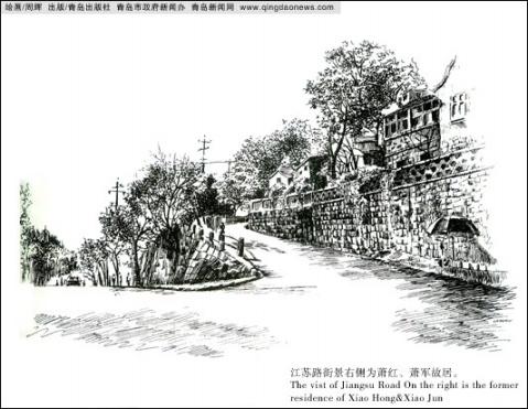记录青岛的钢笔画艺术