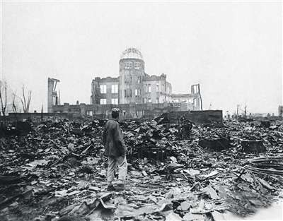 爆炸战场废墟背景素材