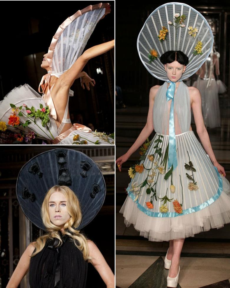 独特时尚的造型以及夸张的头饰装扮在秀场t台上得以完美大胆地呈现图片