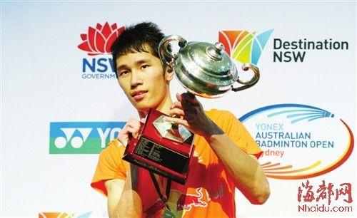 4月7日,澳大利亚羽毛球公开赛男单决赛,田厚威夺冠东方IC供图
