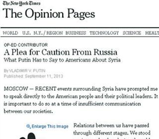 普京《纽约时报》撰文
