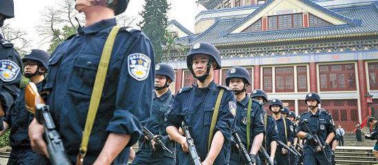 """广州越秀:武装特警""""五一""""起上街巡逻"""