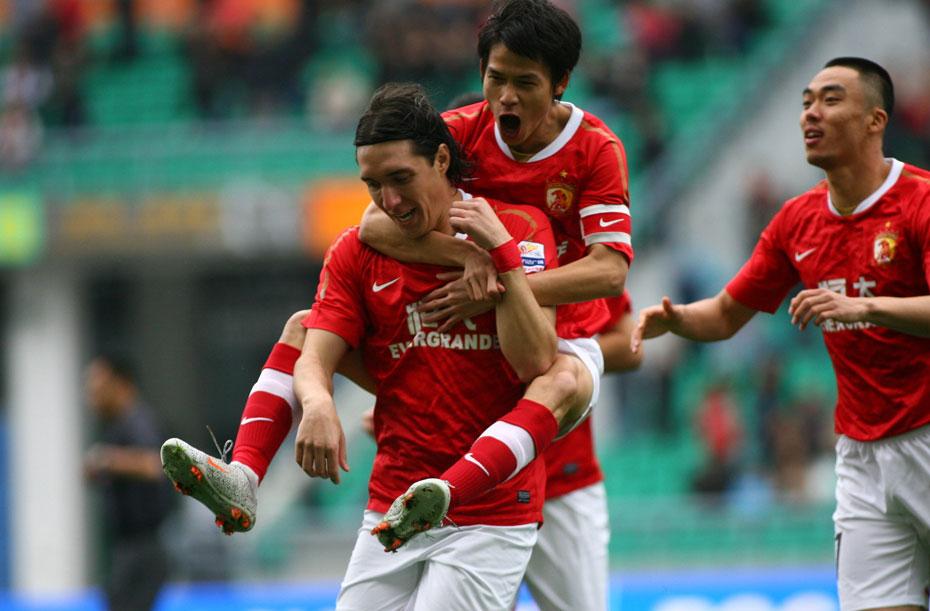 2012年2月25日,2012年中国足协超级杯,广州恒大vs天津泰达。