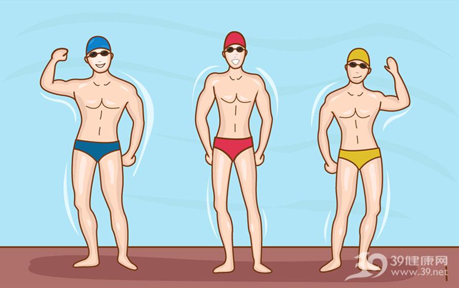 男生游泳矢量图片
