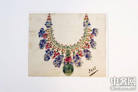 项链珠宝设计手绘稿
