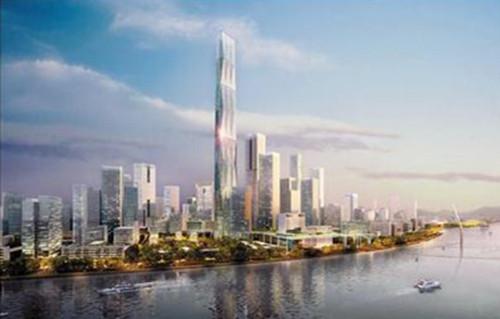—广州20年前提出的珠江新城双子塔中的东塔
