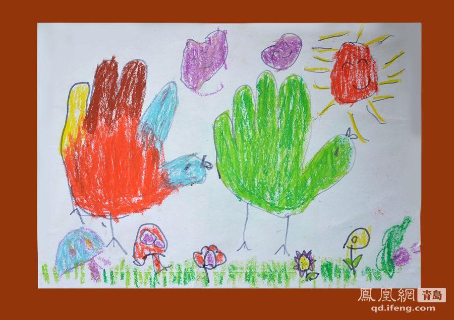 青岛自闭症儿童画作和手工作品赏(组图)