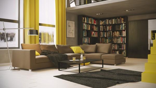 温暖舒适的淡黄色点缀 给你冬日阳光